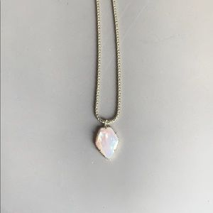 Kendra Scott Opal and Gold Necklace